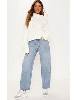 Light Wash Baggy Low Rise Boyfriend Jeans by Prettylittlething