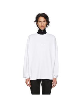 White 'dropout' T Shirt by 1017 Alyx 9 Sm