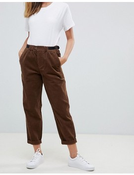 Asos Design Petite Cord Trousers With Side Tabs by Asos Design