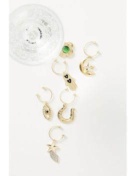 Set Of 6 Lucky You Wine Charms by Anthropologie