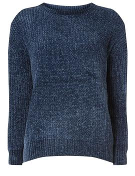 Navy Chenille Jumper by Dorothy Perkins