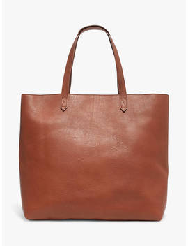 Madewell Leather Transport Zip Top Tote Bag, English Saddle by Madewell