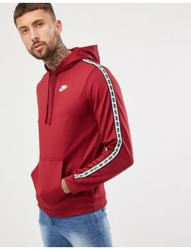 Nike Taping Pullover Hoodie In Red Ar4914 677 by Nike