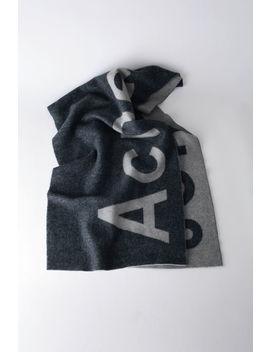 Logo Scarf Navy/Grey by Acne Studios