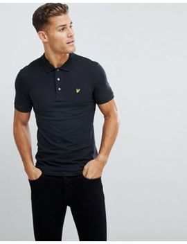 Lyle & Scott Slim Fit Polo Shirt With Stretch In Black by Lyle & Scott