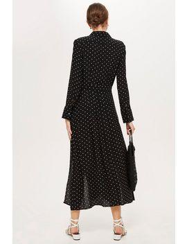 Robe Chemise Plissée à Pois by Topshop