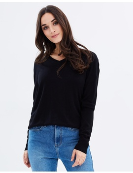 V Neck Bamboo Cashmere Wool Knit by Bamboo Body