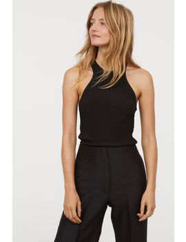 Ribbed Viscose Blend Top by H&M