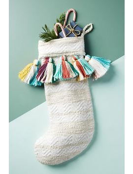 Treasured Tassel Stocking by Anthropologie