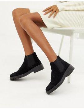 Miss Selfridge Chunky Chelsea Boots In Black by Miss Selfridge