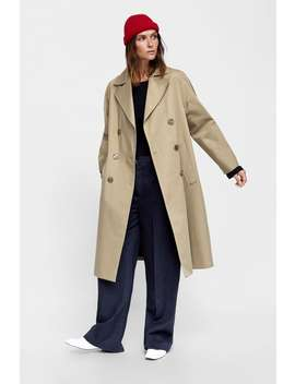 Long Double  Breasted Trench Coat Trench Coats Coats Woman by Zara