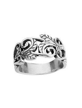 Closeout Warehouse Sterling Silver Acacia Leaves Filigree Ring (Sizes 2 15) by Closeout Warehouse