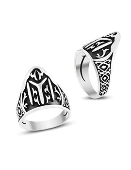 Argunjewellery Dirilis Ertugrul Kayi Iyi Zihgir 925 K Sterling Silver Men's Thumb Ring by Argunjewellery