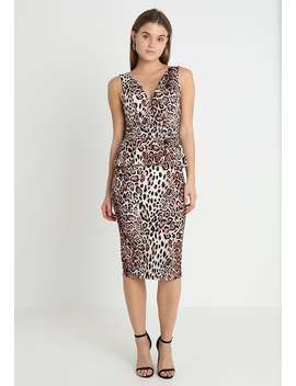 Leopard Print Midi   Shift Dress   Multi by Wal G.