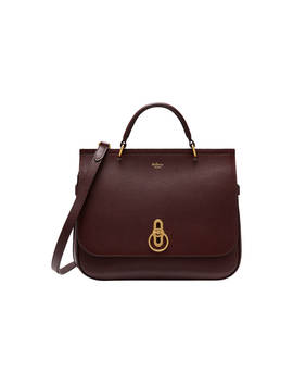 Mulberry Amberley Small Classic Grain Leather Cross Body Bag, Oxblood by Mulberry