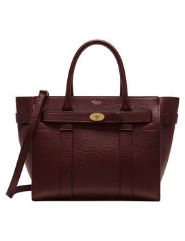 Mulberry Bayswater Small Classic Grain Leather Zipped Bag, Oxblood by Mulberry