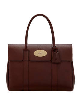 Mulberry Bayswater Small Classic Grain Leather Grab Bag, Red by Mulberry