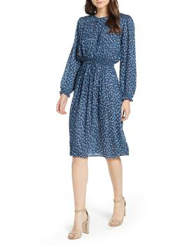 Floral Gauze Smocked Waist Dress by Velvet By Graham & Spencer