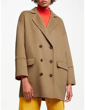 John Lewis & Partners Double Faced Double Breasted Jacket, Camel by John Lewis & Partners