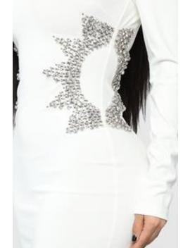 Star Mentally Rhinestone Dress   Ivory by Fashion Nova