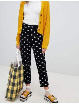 Monki Polka Dot Straight Mom Jeans by Monki