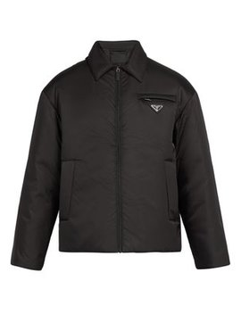Logo Plaque Padded Nylon Jacket by Prada