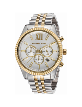 Michael Kors Mk8344 Mens Lexington Silver Gold Two Tone Steel Quartz Wrist Watch by Michael Kors