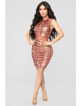 This Is Your Night Bandage Mini Dress   Rust by Fashion Nova