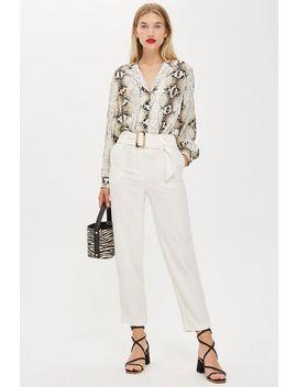 Pantalon Carotte Avec Ceinture Jodi by Topshop