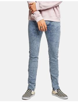 Acid Wash Skinny Jeans by Topman