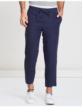Linen Pull On Pants by Double Oak Mills