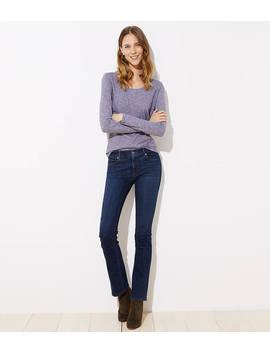 Petite Modern Bootcut Jeans In Dark Classic Indigo Wash by Loft