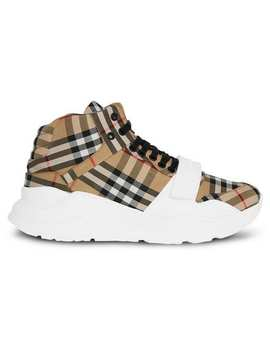 Vintage Check High Top Sneakers by Burberry