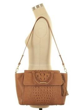 Taylor Top Zip Leather Satchel by Brahmin