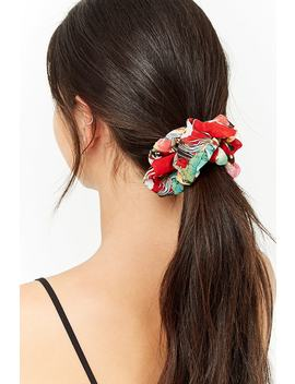 Floral Chiffon Scrunchie by Forever 21