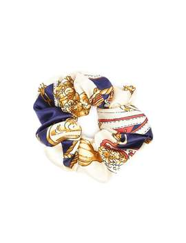 Baroque Print Satin Scrunchie by Forever 21