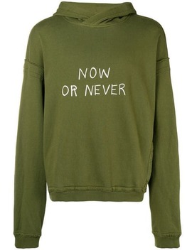 'now Or Never' Kapuzenpullover by Haider Ackermann