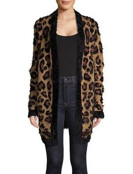 Faux Fur Leopard Cardigan by Lord & Taylor