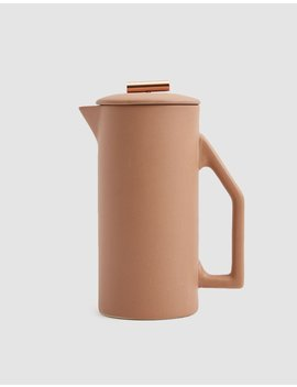 Ceramic French Press In Sand by Yield Design