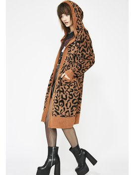 Savage Attack Leopard Cardigan by Very J
