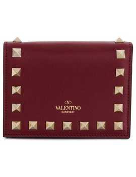 Foldover Rockstud Wallet by Valentino