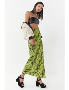 Uo Snake Print Slip Maxi Skirt by Urban Outfitters