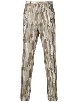 Camouflage Style Stitched Trousers by Cerruti 1881