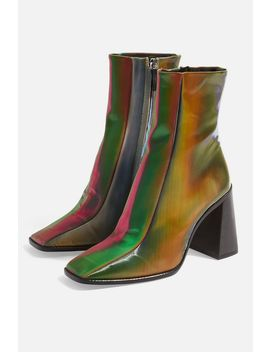 Hurricane Square Toe Boots by Topshop