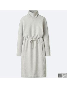 Women Uniqlo U Turtle Neck Long Sleeved Sweatshirt Dress by Uniqlo