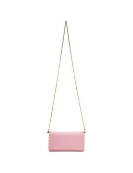 Pink Valentino Garavani Rockstud Chain Bag by Valentino