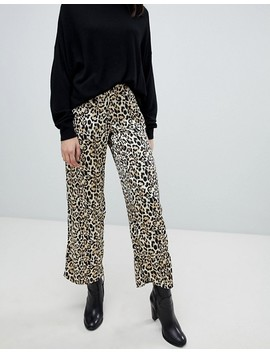 Soaked In Luxury – Leopardmönstrade Byxor I Lössittande Passform by Asos