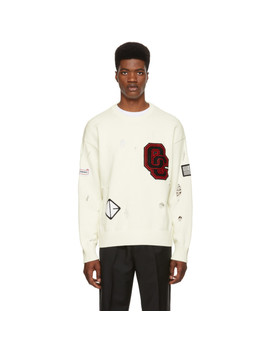 White Varsity Sweater by Opening Ceremony