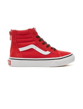 Kids Suede Pop Sk8 Hi Zip Shoes (4 12 Years) by Vans
