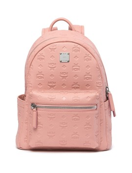 Ottomar Monogrammed Leather Backpack by Mcm